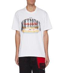 it's not birthday today slogan graphic tassel detail t-shirt