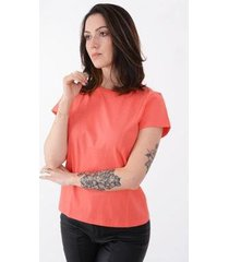 t-shirt lejan básica algodão feminina - feminino