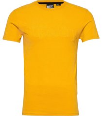 core faux suede tee t-shirts short-sleeved gul superdry