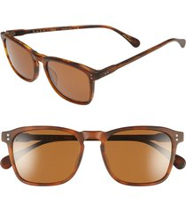 men's raen 'wiley' 54mm sunglasses - matte rootbeer