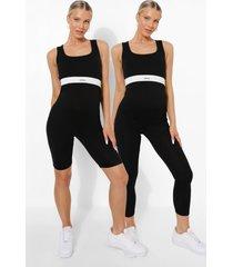 zwangerschap leggings multipack, black
