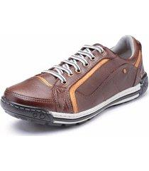 sapatênis casual pé de couro masculino - masculino