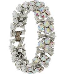 susan caplan vintage 1950s lisner bracelet - silver