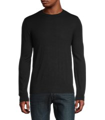 mills supply men's crewneck pullover sweater - black - size xl