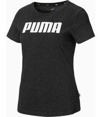 essentials t-shirt voor dames, grijs, maat l | puma