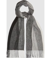 reiss meads - wool cashmere blend scarf in soft grey, mens