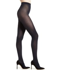 women's falke cotton touch 65 opaque tights, size x-large - blue