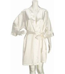 lillian rose ivory satin maid of honor robe s/m
