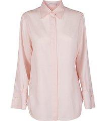 agnona light pink mohair-silk blend shirt