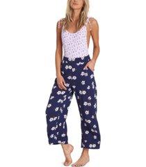 billabong cut through floral-print pants