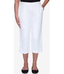 alfred dunner women's missy anchor's away heat set cuff capri pants