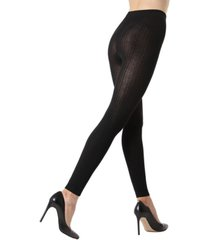 ribbed footless sweater women's tights