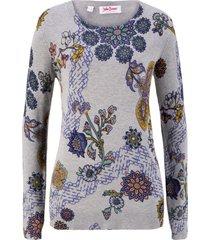 maglione fantasia in filato fine (grigio) - john baner jeanswear