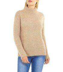 sweater brave soul beige - calce oversize