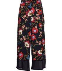 eloise drape 2 printd culottes wijde broek blauw french connection