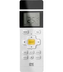 controle remoto universal one for all para ar condicionado com visor lcd retroiluminado branco