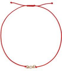 women's stone and strand diamond bestie bracelet