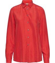 karolina washed silk overhemd met lange mouwen rood whyred