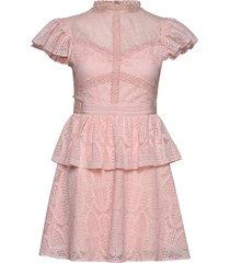 grace dress kort klänning rosa by malina
