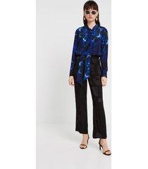 blouse mandalas tie dye print - blue - xxl