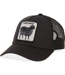 men's goorin bros. animal farm - naughty lamb trucker cap - black