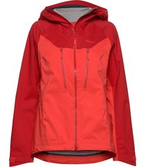 cecilie 3l jkt outerwear sport jackets röd bergans