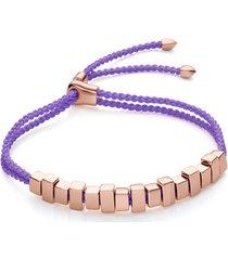 rose gold linear ingot friendship bracelet
