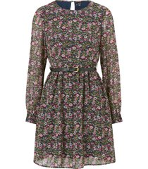 klänning vmprinty l/s belt short dress