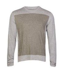 camisetas khelf camiseta masculina mescla com elastano cinza