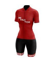 macaquinho de ciclismo refactor pop mtb speed vermelho