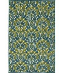 "kaleen a breath of fresh air fsr107-17 blue 3'10"" x 5'8"" area rug"