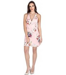 vestido floral neoprene colcci