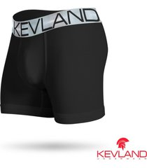 cueca boxer kevland microfibra preta elástico prata preto