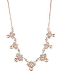 "givenchy crystal cluster statement necklace, 16"" + 3"" extender"