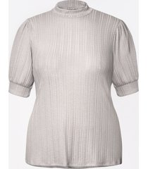 maurices plus size womens mock neck puff sleeve top gray