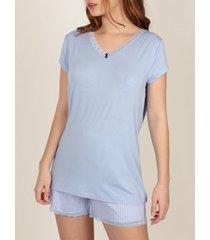 pyjama's / nachthemden admas frisse en zachte pyjama shorts t-shirt