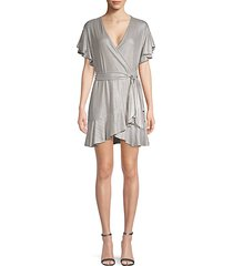 moon dance flutter-sleeve wrap dress