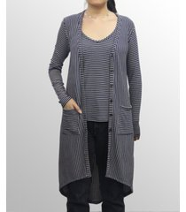 coin 1804 womens rayon blend stripe cardigan