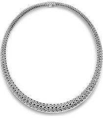 'classic chain' silver necklace