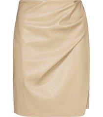 nanushka nasir vegan leather wrap skirt