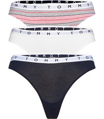 3p thong print stringtrosa underkläder vit tommy hilfiger
