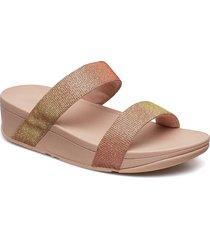 lottie glitzy slide shoes summer shoes flat sandals rosa fitflop