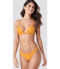 na-kd swimwear thin side bikini brief - yellow