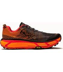 hoka one one sneakers evo mafate 2 colore nero arancione