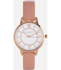 olivia burton women's wonderland dusty pink mix watch - rose gold/pink