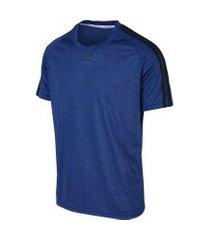 camiseta masculina mescla raglan com listras blend azul/preto camiseta masculina mescla raglan com listras blend azul/preto gg