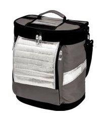 ice cooler dobrável cinza com alças 18 litros mor