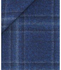 giacca da uomo su misura, lanificio zignone, quadrato melange bianco nero blu, autunno inverno | lanieri