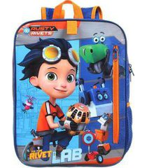 mochila infantil escolar masculina rusty rivets