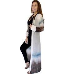 kimono largo tiedye blanco celeste natalia seguel